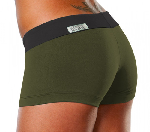 Mini Band Mini Shorts - Contrast Supplex