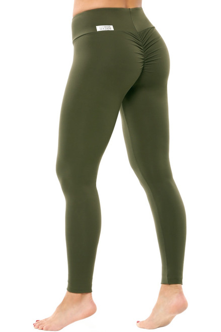 Bambola Scrunch Back Sport Band Leggings - Solid Supplex