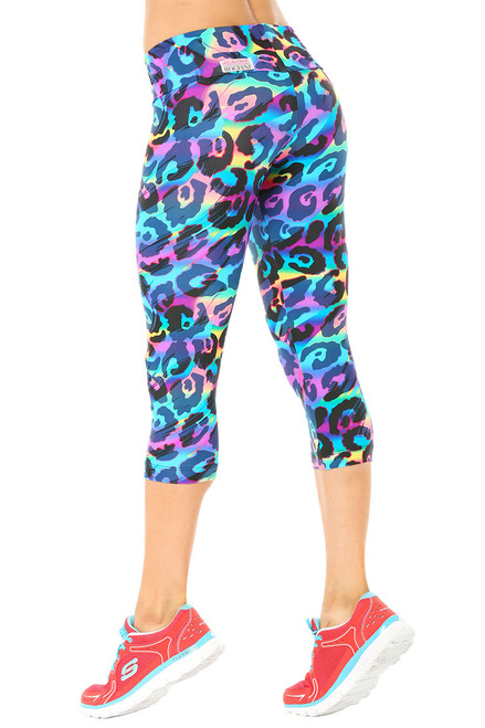 Rebel Sport Band 3/4 Leggings - FINAL SALE -XS (1 AVAILABLE)