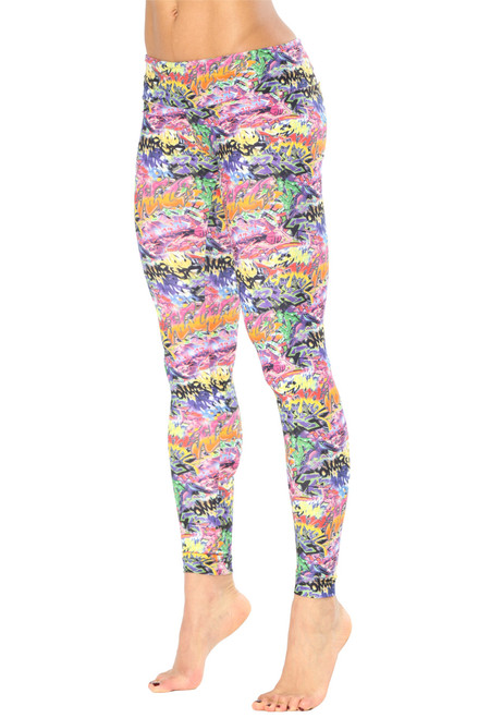 Graffiti Leggings - FINAL SALE - XS-INSEAM 28""