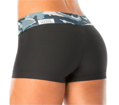 Mini Band Mini Shorts - Blue Camo on Supplex