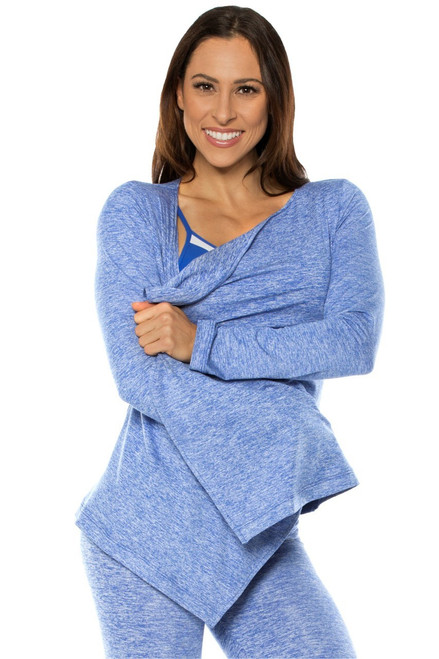 Long Sleeves Wrap Top - Butter