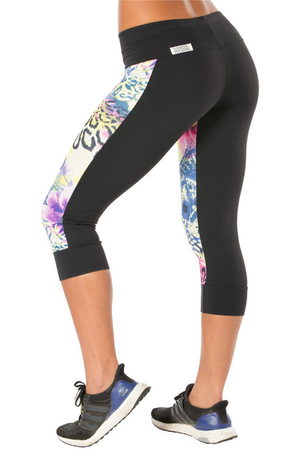 Flower High Waist Dual 3/4 Leggings