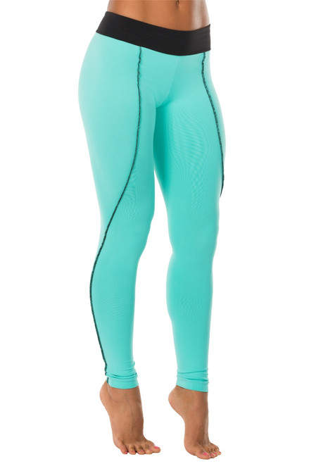 Dune Curved Sport Band Leggings - Contrast Supplex