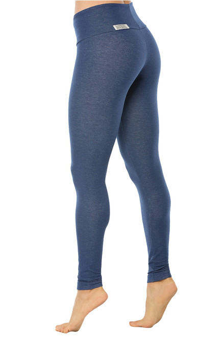 Denim Look Cotton High Waist Band Leggings - FINAL SALE - XSMALL (1 AVAILABLE) INSEAM 28""
