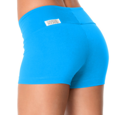 """Sport Band Shorts - Supplex - FINAL SALE - Bright Turquoise  - XS - 2.5"""" Inseam - 10.5"""" SIDES (1 available)"""
