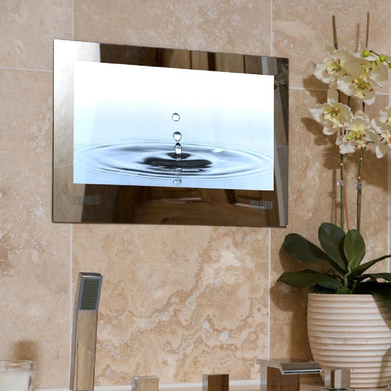 Proofvision 19 Or 24 Mirror Bathroom Ip65 Waterproof Tv Built In Speakers