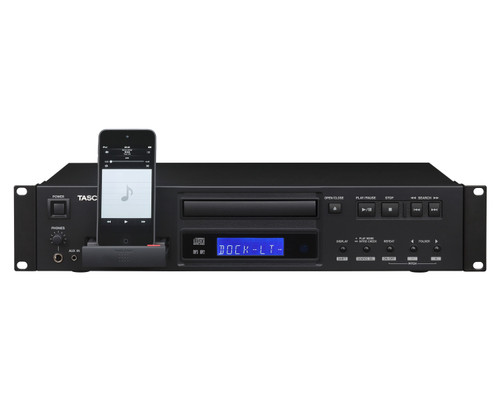TASCAM CD200IL Pro CD Player with 30-Pin & Lightning iPod Dock 2U