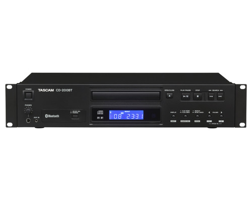 TASCAM CD-200BT CD Player With Bluetooth Receiver Optical & Coaxial Digital Out + RCA