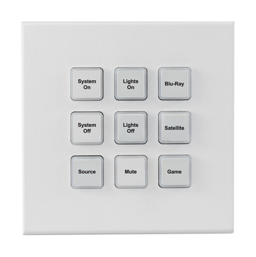 CYP CR-KP2 9 Button Wall-Mount Keypad Control System