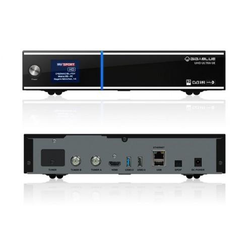 Gigablue UE UHD 4K Linux DVB-S2 Satellite Receiver 1 x FBC Twin Satellite Tuner