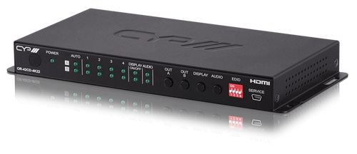 CYP OR-42CD-4K22 4 x 2 HDMI Matrix Switch with Audio De-Embedding (Full 6G, 4K & HDR resolution support & HDCP 2.2)