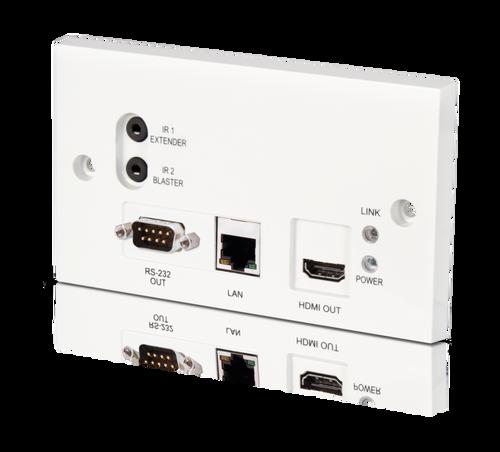 CYP PU-507WPRX 5Play™ HDBaseT™ Wall Plate Receiver (inc. PoC & single LAN, up to 100m)