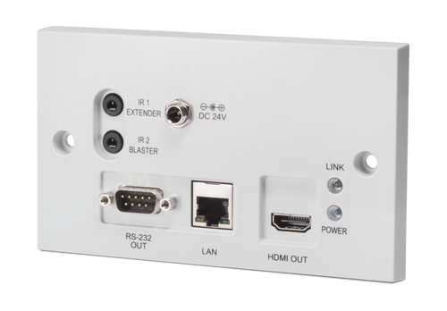 CYP PU-607BDWP-RX HDMI over Single CAT5e/6/7 HDBaseT™ - Bi-Directional PoC Wallplate Receiver (full 5-Play™ & Single LAN up to 100m)
