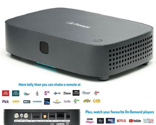 (Non Recordable) Freesat UHD-X Smart 4K Ultra HD Satellite Receiver Set Top Box