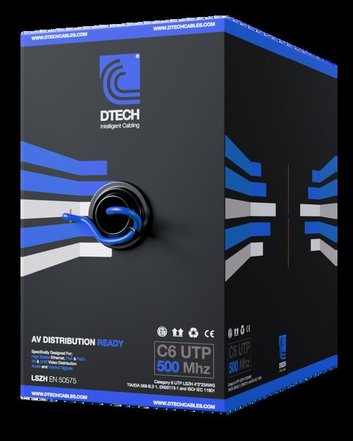 DTech AV-Ready Cat6 U/UTP Solid Core LSOH 305m Certified HDBaseT and