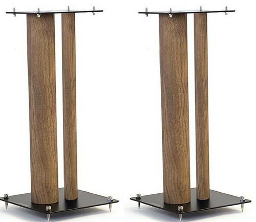 Pair Of Norstone Stylum 3 80cm High Steel Loudspeakers Stands In White, Black or Black/Oak