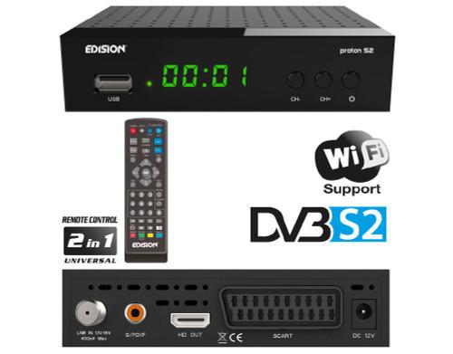 Edision PROTON S2 DVB-S2 Full HD Satellite Receiver With Optional USB WiFi