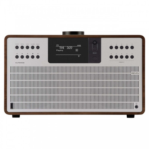 REVO SuperCD DAB+ FM Radio with Bluetooth Internet USB Walnut/Silver
