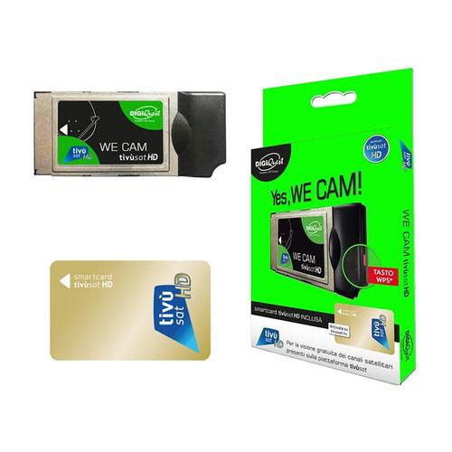 TiVuSat DIGIQuest We CAM SmartCam HD CI+ Module + Active TiVuSat Card