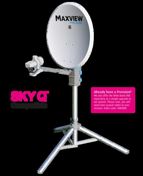 Maxview MXL012 Precision 55/65 or 75cm Caravan Satellite Dish Sky Q LNB, Tripod, Carry Case