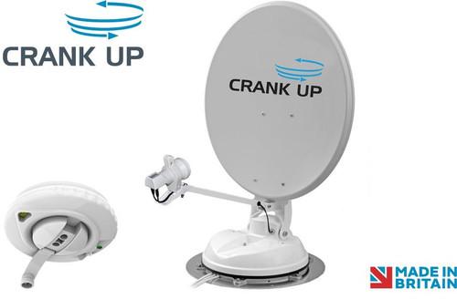 Maxview B2590/65 Manual Crank Up Caravan 65 or 85cm Satellite Dish With Twin LNB