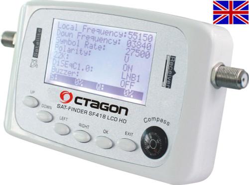 Octagon SF 418 LCD Satfinder Meter Ideal For Campers