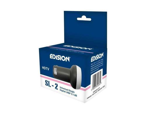 Edision SL-2, 0.1db, HD, 3D, 4K Support Single Universal LNB (1 Outputs)