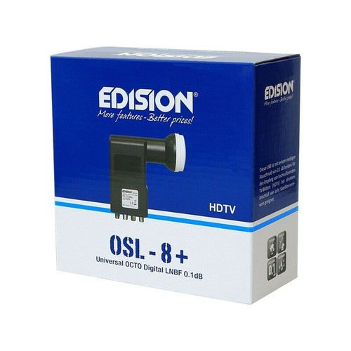 Edision OSL-8, 0.1db, HD, 3D, 4K Support Octo Universal LNB (8 Outputs)