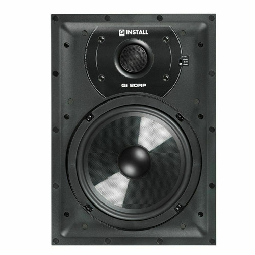 Pair Q Install QI80RP 8″ 100w In-Wall Home Theatre Speakers