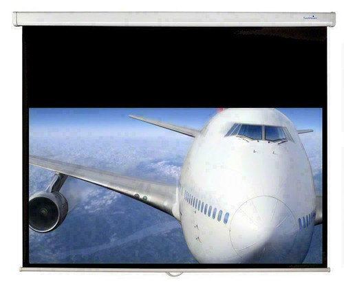 Sapphire SWS180WSF 1.7m Manual Pull Down 16:9 Projector Screen & Brackets