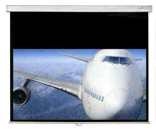 Sapphire SWS150WSF 1.5m Manual Pull Down 16:9 Projector Screen & Brackets
