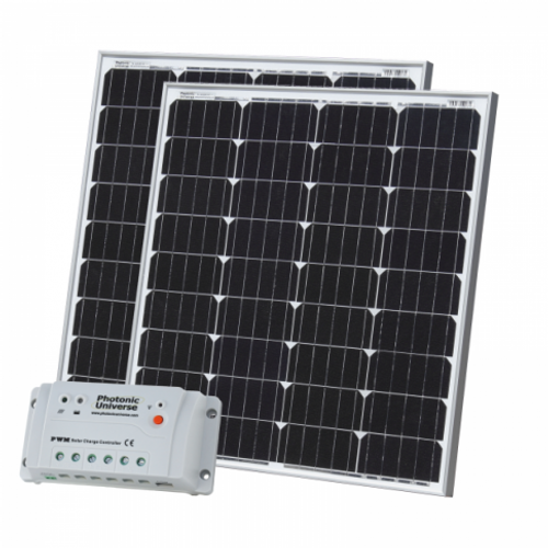 160W (80W+80W) SOLAR CHARGING KIT WITH 20A CONTROLLER AND 2 X 5M CABLES