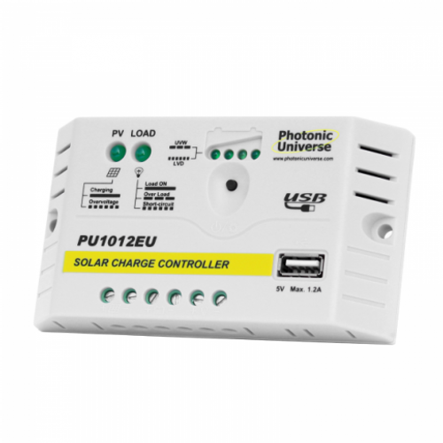10A SOLAR CHARGE CONTROLLER / REGULATOR FOR 12V BATTERIES AND SOLAR PANELS UP TO 160W