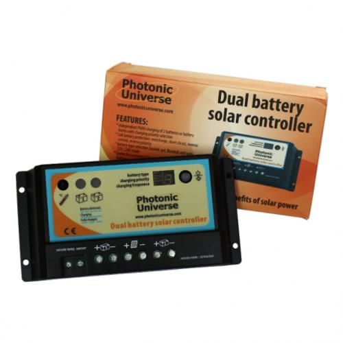 10A DUAL BATTERY SOLAR CHARGE CONTROLLER / REGULATOR FOR 12V / 24V BATTERIES