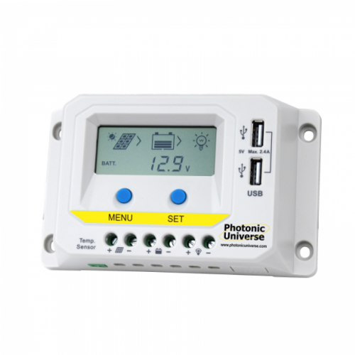 10A 12V/24V SOLAR CHARGE CONTROLLER / REGULATOR WITH LCD DISPLAY AND POWERFUL DUAL USB OUTPUT (2.4A)