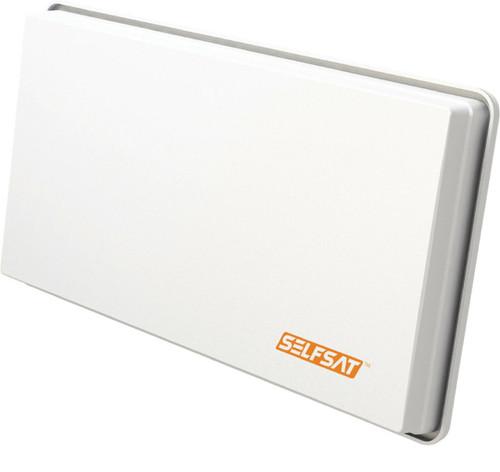 Selfsat H30D2 Discreet White Flat Twin Output Satellite Dish