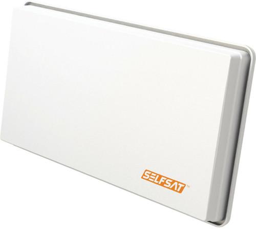 Selfsat H30D4 Discreet White Flat Quad Output Satellite Dish