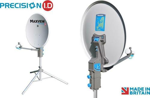 Maxview Precision I.D 55/65 or 75cm Caravan Satellite Dish Twin or Single LNB, Tripod, Carry Case