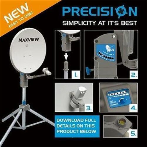 Maxview Precision 55/65 or 75cm Caravan Satellite Dish Twin or Single LNB, Tripod, Carry Case
