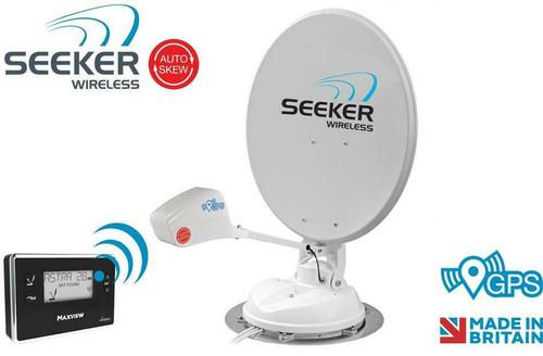 Maxview 65 or 85cm Auto Skew Seeker Wireless Caravan Motorhome Satellite System