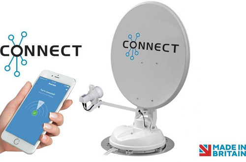 Maxview Connect Automatic 50, 65 or 85cm Dish Twin or Single LNB Caravan Motorhome Satellite Dish