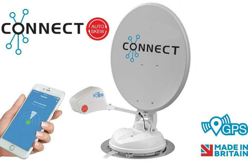 Maxview Connect Automatic Auto Skew 65 or 85cm Dish Twin or Single LNB Caravan Motorhome Satellite Dish