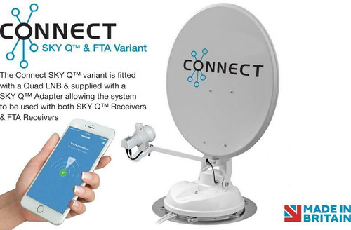 Maxview Connect Motorhome 65cm Satellite System SKY Q & Free to Air LNB Variant