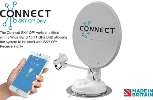 Maxview Connect Auto Skew Connect Motorhome Caravan 65 or 85cm Satellite System With SKY Q LNB