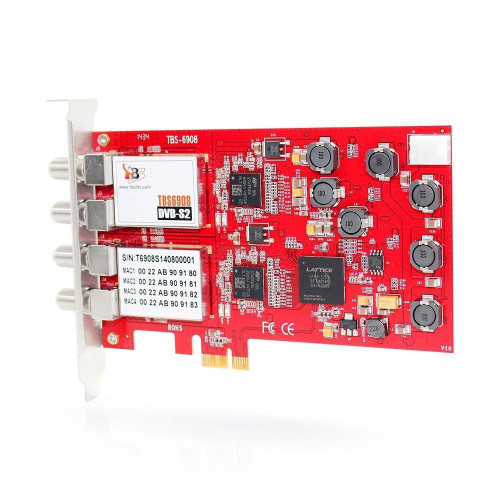 TBS 6908 Professional DVB-S2 Quad Tuner PCIe Satellite Card