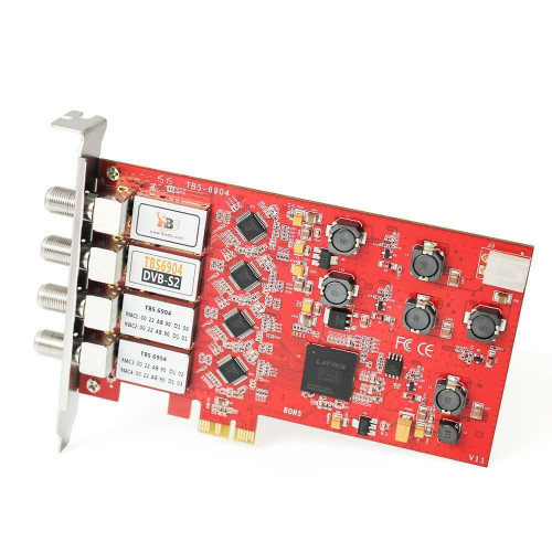 TBS 6904 DVB-S2 Satellite TV Tuner Quad PCIe Card