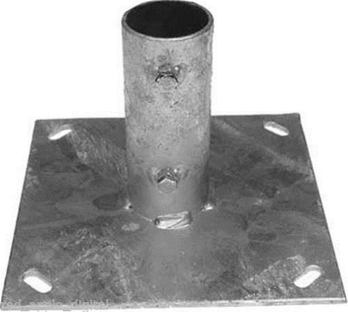 Ground Plate for 2 Inch Mast Pole Ideal For Satellite Dishes Or Aerials