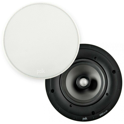 1 x Polk Audio V60 Silm Ultra-Shallow 6 1/2″ High Performance In-Ceiling Speaker