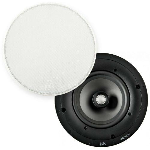 Polk Audio V60 Silm Ultra-Shallow 6 1/2″ High Performance In-Ceiling Speaker